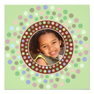 Mint Confetti Party Invitation