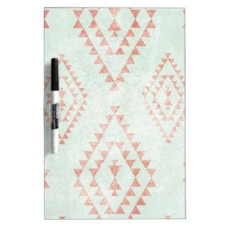 mint & coral tribal pattern Dry-Erase board