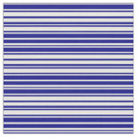[ Thumbnail: Mint Cream and Blue Colored Stripes/Lines Pattern Fabric ]