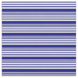 [ Thumbnail: Mint Cream and Blue Colored Stripes Pattern Fabric ]