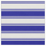[ Thumbnail: Mint Cream and Dark Blue Striped/Lined Pattern Fabric ]