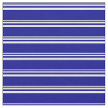[ Thumbnail: Mint Cream and Dark Blue Stripes Pattern Fabric ]