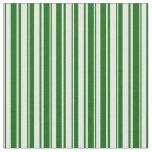 [ Thumbnail: Mint Cream and Dark Green Stripes/Lines Pattern Fabric ]