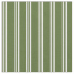 [ Thumbnail: Mint Cream and Dark Olive Green Colored Pattern Fabric ]