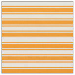 [ Thumbnail: Mint Cream and Dark Orange Colored Stripes Fabric ]