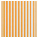 [ Thumbnail: Mint Cream and Dark Orange Stripes Fabric ]