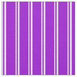 [ Thumbnail: Mint Cream and Dark Violet Stripes Fabric ]