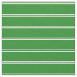 [ Thumbnail: Mint Cream and Forest Green Colored Stripes Fabric ]
