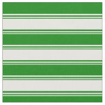 [ Thumbnail: Mint Cream and Green Colored Lined Pattern Fabric ]