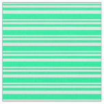 [ Thumbnail: Mint Cream and Green Colored Lines Fabric ]