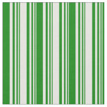 [ Thumbnail: Mint Cream and Green Stripes Pattern Fabric ]