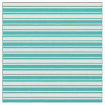 [ Thumbnail: Mint Cream and Light Sea Green Pattern of Stripes Fabric ]