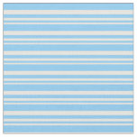 [ Thumbnail: Mint Cream and Light Sky Blue Pattern of Stripes Fabric ]