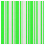 [ Thumbnail: Mint Cream and Lime Colored Striped Pattern Fabric ]