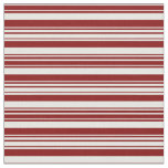 [ Thumbnail: Mint Cream and Maroon Colored Striped Pattern Fabric ]