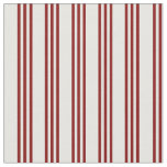 [ Thumbnail: Mint Cream and Maroon Colored Stripes Pattern Fabric ]