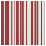 [ Thumbnail: Mint Cream and Maroon Stripes/Lines Pattern Fabric ]