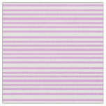 [ Thumbnail: Mint Cream and Plum Colored Lined/Striped Pattern Fabric ]