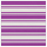 [ Thumbnail: Mint Cream and Purple Lines/Stripes Pattern Fabric ]