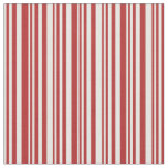 [ Thumbnail: Mint Cream and Red Colored Lines Pattern Fabric ]