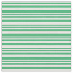 [ Thumbnail: Mint Cream and Sea Green Colored Striped Pattern Fabric ]