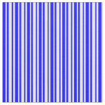 [ Thumbnail: Mint Cream & Blue Colored Lines/Stripes Pattern Fabric ]