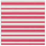 [ Thumbnail: Mint Cream & Crimson Lined Pattern Fabric ]
