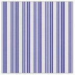 [ Thumbnail: Mint Cream & Dark Blue Lines/Stripes Pattern Fabric ]
