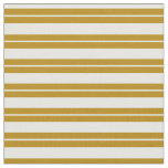 [ Thumbnail: Mint Cream & Dark Goldenrod Colored Stripes Fabric ]