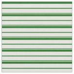 [ Thumbnail: Mint Cream & Dark Green Colored Lines Fabric ]