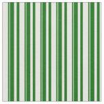 [ Thumbnail: Mint Cream & Dark Green Colored Lines Pattern Fabric ]