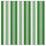 [ Thumbnail: Mint Cream & Dark Green Colored Striped Pattern Fabric ]