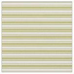 [ Thumbnail: Mint Cream & Dark Khaki Pattern of Stripes Fabric ]