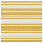 [ Thumbnail: Mint Cream & Goldenrod Lined/Striped Pattern Fabric ]