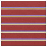 [ Thumbnail: Mint Cream, Goldenrod, Medium Slate Blue, Dark Red Fabric ]