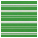 [ Thumbnail: Mint Cream & Green Colored Stripes/Lines Pattern Fabric ]