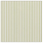 [ Thumbnail: Mint Cream & Green Colored Stripes Pattern Fabric ]