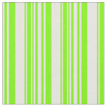 [ Thumbnail: Mint Cream & Green Lined Pattern Fabric ]