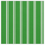 [ Thumbnail: Mint Cream & Green Lines Pattern Fabric ]