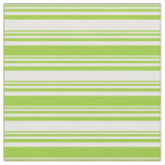 [ Thumbnail: Mint Cream & Green Striped/Lined Pattern Fabric ]