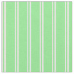 [ Thumbnail: Mint Cream & Light Green Pattern Fabric ]