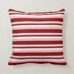 [ Thumbnail: Mint Cream, Light Pink, and Maroon Lines Pillow ]
