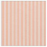 [ Thumbnail: Mint Cream & Light Salmon Striped/Lined Pattern Fabric ]