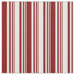 [ Thumbnail: Mint Cream & Maroon Colored Lines Pattern Fabric ]