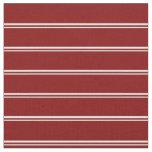 [ Thumbnail: Mint Cream & Maroon Stripes/Lines Pattern Fabric ]