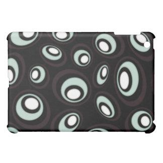 Mint & Cream Offset Retro Ovals iPad Mini Case