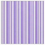 [ Thumbnail: Mint Cream & Purple Colored Striped/Lined Pattern Fabric ]