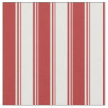 [ Thumbnail: Mint Cream & Red Lined Pattern Fabric ]