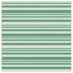 [ Thumbnail: Mint Cream & Sea Green Striped/Lined Pattern Fabric ]