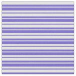 [ Thumbnail: Mint Cream & Slate Blue Colored Stripes Pattern Fabric ]